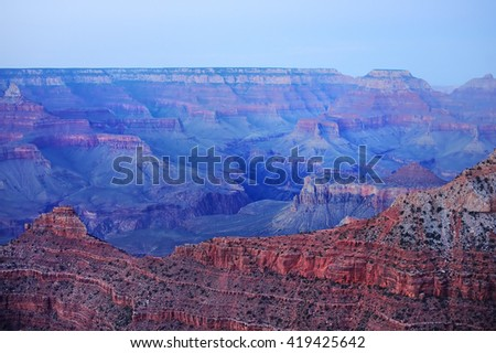 Amazing Sunrise Image of the Grand Canyon taken from Mather Point - stock photo