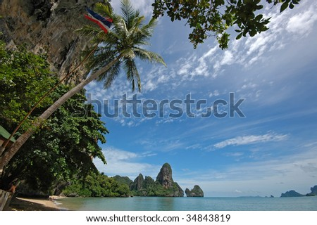 Amazing Thailand! Krabi province. Rocks by the sea.