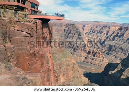 Amazing view Grand Canyon. Skywalk. Arizona. USA - stock photo