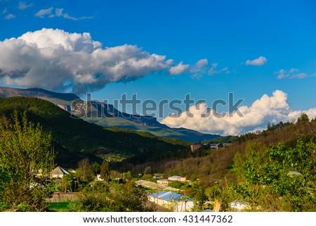 Amazing view of Dilijan, Armenia - stock photo