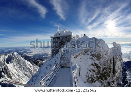 Amazing view of High Mountains with Lomnicky stit, High Tatras, Slovakia - stock photo