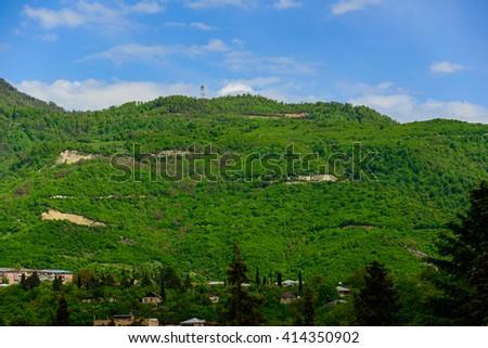 Amazing view of Ijevan, Armenia - stock photo
