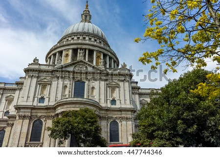 Amazing view of St Paul's Cathedral in, London, England, Great Britain - stock photo