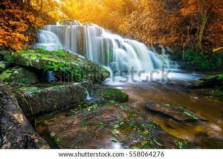 Amazing Waterfall Colorful Autumn Forest Stock Photo ... - photo#13