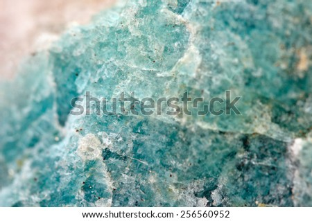 """Amazonite (sometimes called """"Amazon stone"""") is a bluish-green variety of microcline feldspar.Macro.Beautiful fantastic background for successful business projects and other Your variant. - stock photo"""