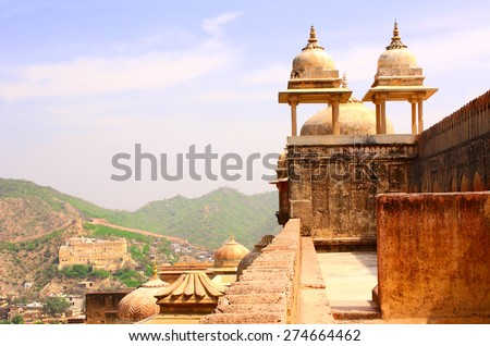 Amber Fort near Jaipur, Rajasthan, India - stock photo