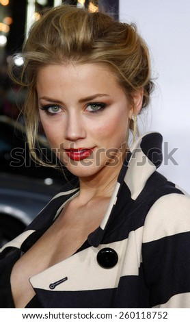 "Amber Heard attends the World Premiere of ""Forgetting Sarah Marshall"" held at the Grauman's Chinese Theater in Hollywood, California, United States on April 10, 2008."