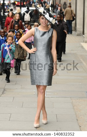 Amber Le Bon launches the outfits Ascot's Dress Code Assistants, London.  22/05/2013