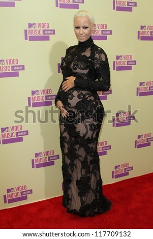 Amber Rose at the 2012 Video Music Awards Arrivals, Staples Center, Los Angeles, CA 09-06-12 - stock photo