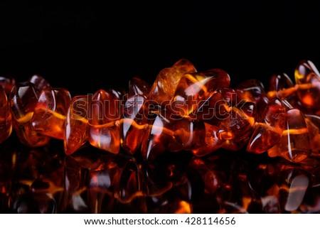 Amber stone  - stock photo