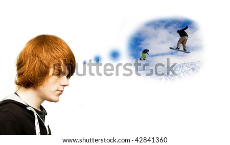 Ambition/gap year/yearning student concept - stock photo