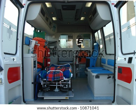 Ambulance and equipment views from inside