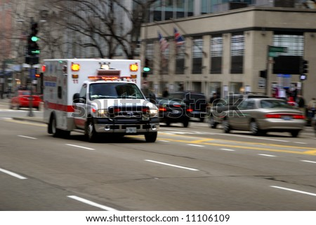 Ambulance in motion2 - stock photo
