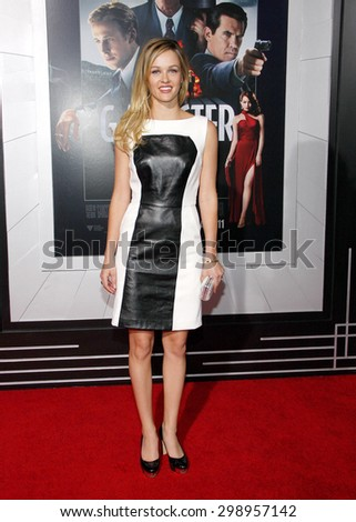 Ambyr Childers at the Los Angeles premiere of 'Gangster Squad' held at the Grauman's Chinese Theatre in Hollywood on January 7, 2013.  - stock photo