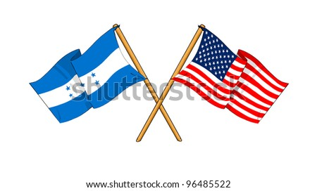 America and Honduras alliance and friendship