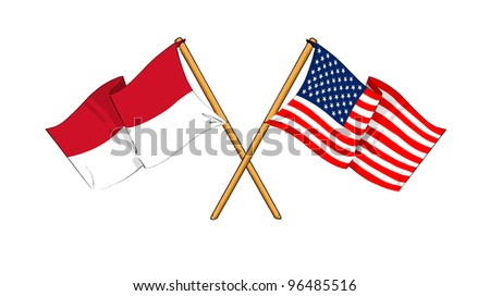 America and Indonesia alliance and friendship