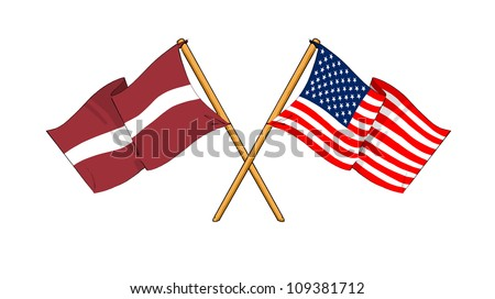 America and Latvia alliance and friendship