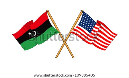 America and Libya alliance and friendship