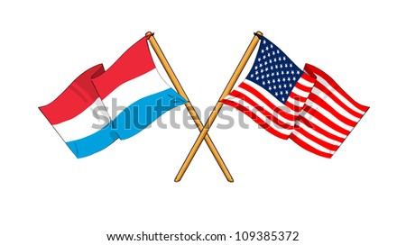 America and Luxembourg alliance and friendship