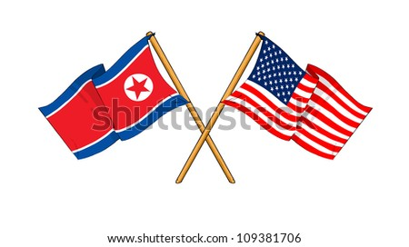 America and North Korea alliance and friendship