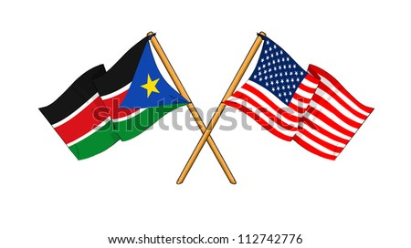America and South Sudan alliance and friendship