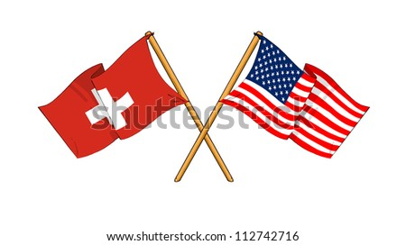 America and Switzerland alliance and friendship