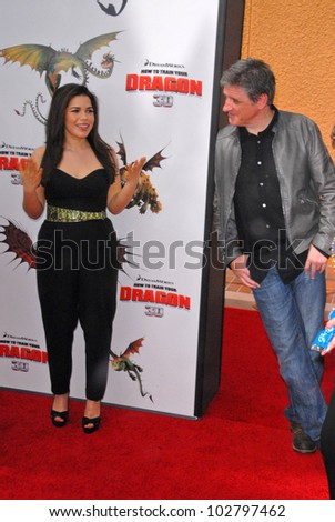 "America Ferrera and Craig Ferguson at the Los Angeles Premiere of ""How To Train Your Dragon,"" Gibson Amphitheater, Universal City, CA. 03-21-10 - stock photo"