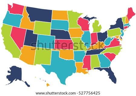 Cartoon Map Of The Us Cartoon Usa Map With Comic Letters Amazon - Us map cartoon