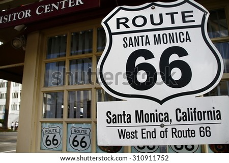 America SantaMonica American mother road Route 66 National highway historic road