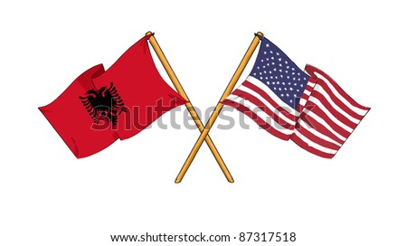 American and Albanian alliance and friendship