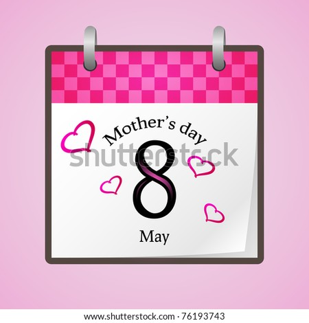 American and canadian mothers day for 2011 - stock photo