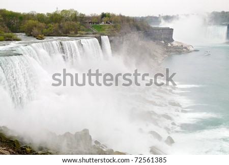 American and Horseshoe falls at Niagara Falls
