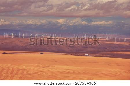 American autumn  landscapes - stock photo