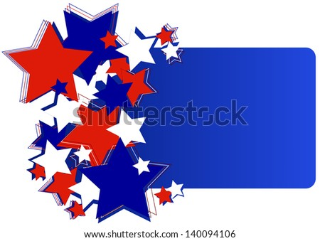 American background for Independence Day on July 4 - stock photo