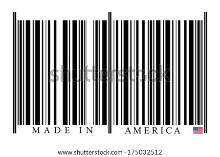 American Barcode on white background