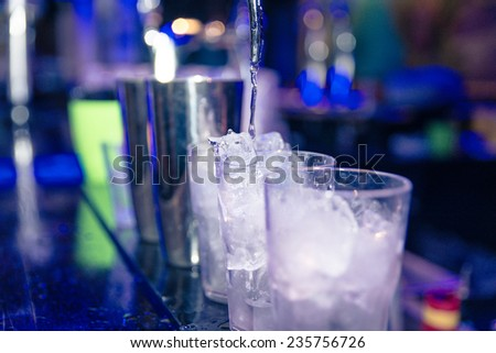 american bartending calling order. concept about industry and service - stock photo