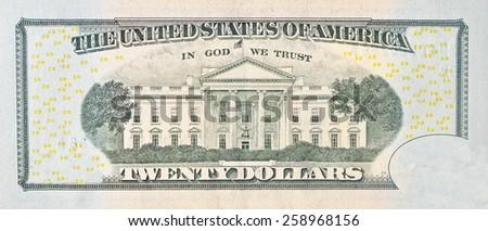 American bill, 20 dollar  - stock photo