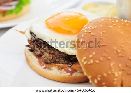 American burger - stock photo