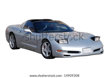 American Cabriolet Silver Metallic Sports Car from Nineties