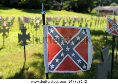 american cemetery - stock photo