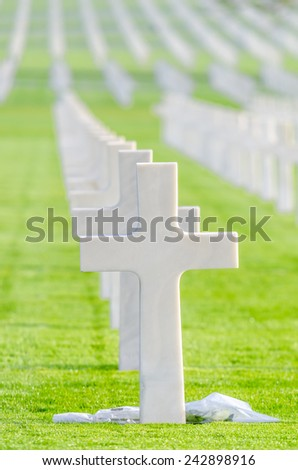 American Cemetery in France - stock photo
