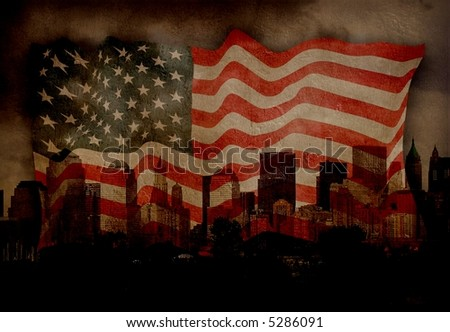 American City NYC - stock photo