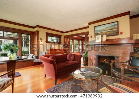 Interior nicely furnished living room large stock photo for Furniture northwest