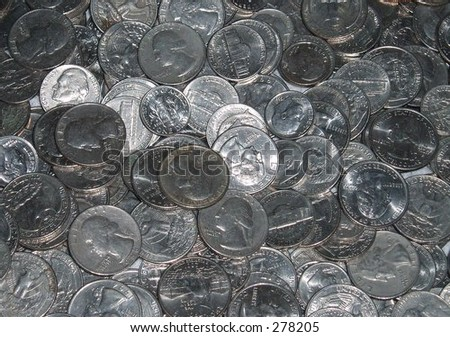 American coins - stock photo