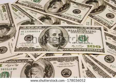 American currency background - stock photo