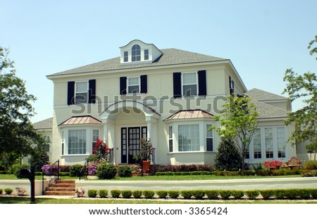 American Dream Home with space for text