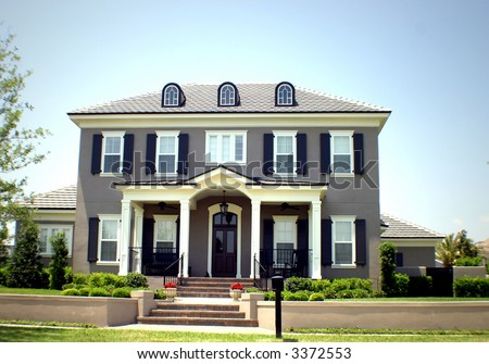 American Dream Home with space for text - stock photo