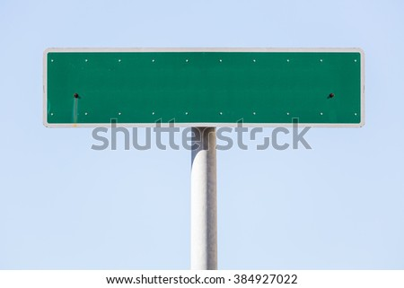 American empty street name sign