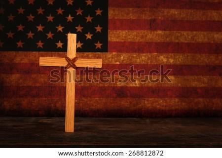 American Faith - stock photo