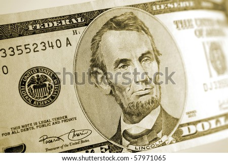 American five dollar banknote